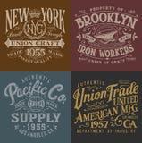 Vintage Workwear Graphics Set Royalty Free Stock Image