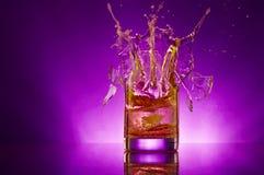 Violet splash Stock Image