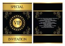 VIP Invitation Card Template Stock Photography