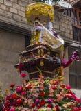 Virgen del Carmen icon parade Pisac Cuzco Peru Stock Photo