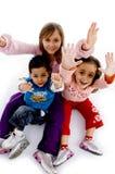 Vista di alto angolo di godere dei bambini Fotografia Stock Libera da Diritti