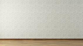 Vit tegelstenvägg Arkivfoto