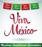 Viva Mexico - mexican holiday vector decoration Stock Photos