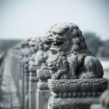 Vivid stone lion Royalty Free Stock Photography