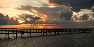 Vivid sunset Stock Image