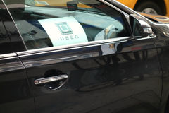 Voiture d'Uber Image stock