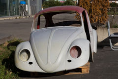 Volkswagen Beetle Car body that's in the process of being restored Stock Photos