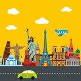 Voyage autour du monde Photo libre de droits