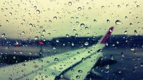 Vue de pluie d'avion Photographie stock libre de droits