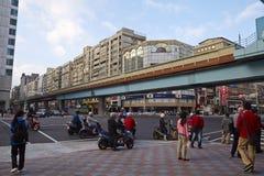 Vue de rue, ville de Taïpeh Image stock