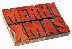 W drewnianym typ wesoło Boże Narodzenia Zdjęcie Stock
