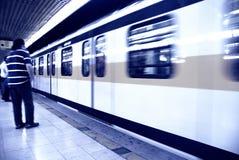 Waiting metro Stock Photo