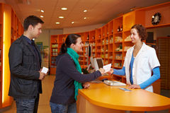 Waiting queue in pharmacy Stock Photography