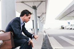 Waiting for taxi Royalty Free Stock Images
