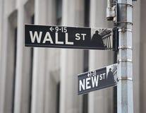 Wall street sign Stock Photo