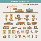 Warehouse and logistics infographic elements Stock Photo