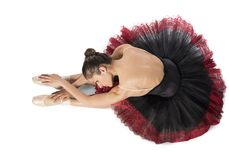 Warmup classical dancer Stock Photography