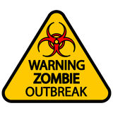 Warning zombie outbreak Royalty Free Stock Image