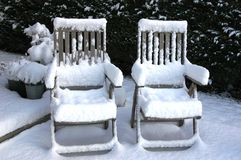Was cold chairs Stock Image