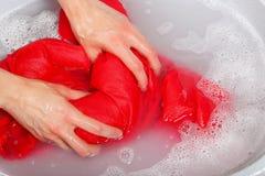 Washing clothes Royalty Free Stock Photo