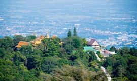 Wat Phra That Doi Suthep in Chiang- Maiprovinz, Thailand Lizenzfreie Stockfotos