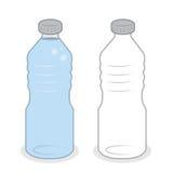 Water Bottle Empty Full Royalty Free Stock Image