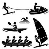 Water Sea Sport Pictogram Royalty Free Stock Image