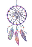 Watercolor dream catcher. Hand drawn  illustration. Stock Images
