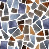 Watercolor seamless stone texture Royalty Free Stock Photos