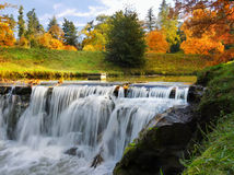 Waterfall, Autumn, Landscape, Colours Royalty Free Stock Photo