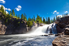 Waterfall in countryside Royalty Free Stock Images
