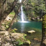 Waterfalls in a gorg in Catalonia Royalty Free Stock Photography