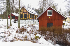 Watermill in Marieholm, Sweden Stock Image