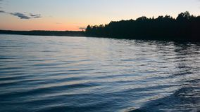 Waves on the water of the lake. stock video footage