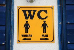 WC sign, Croatia Stock Photography