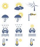 Weather forecast icon set Stock Images