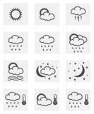 Weather icon set Royalty Free Stock Photos