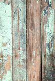 Weathered old wood natural blue turquoise paint pe Royalty Free Stock Images