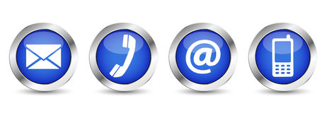 Web Contact Us Buttons Stock Photography