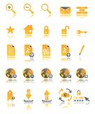 Web icons set in two colors Royalty Free Stock Photo