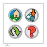WEB: O ícone ajustou 03 - a versão 1 Imagens de Stock