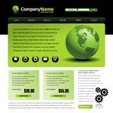 Web site template Royalty Free Stock Photos