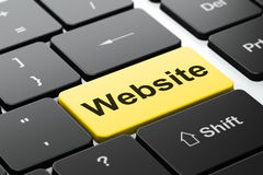 Webdesignkonzept: Website auf Computertastaturhintergrund Lizenzfreies Stockfoto