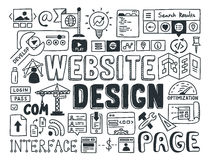 Website design doodle elements Stock Photos