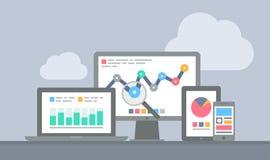 Website en mobiel analyticsconcept Royalty-vrije Stock Afbeeldingen