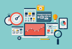 Website SEO and analytics icons Royalty Free Stock Photography