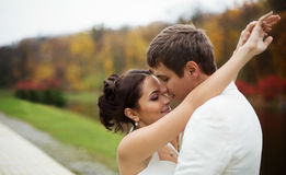 Wedding in autumn park Stock Image