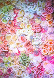 Wedding bouquet with rose bush Stock Photography