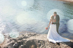Wedding - Bride and Groom Royalty Free Stock Photography