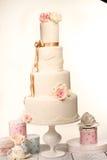 Wedding cake with icing Stock Photos